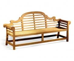 teak lutyens bench
