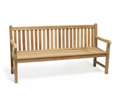 Windsor Teak Garden Bench, Classic Outdoor Wooden Bench – 1.8m
