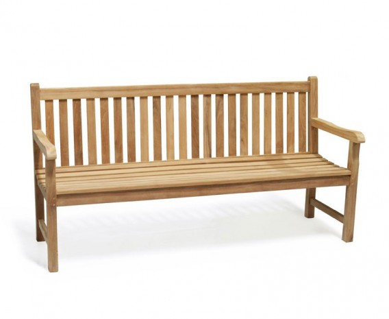 Windsor 4 Seater Teak Garden Bench, 6ft Park Bench – 1.8m