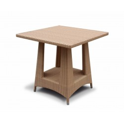 Riviera Flat Weave 2 Seat Dining Set Table