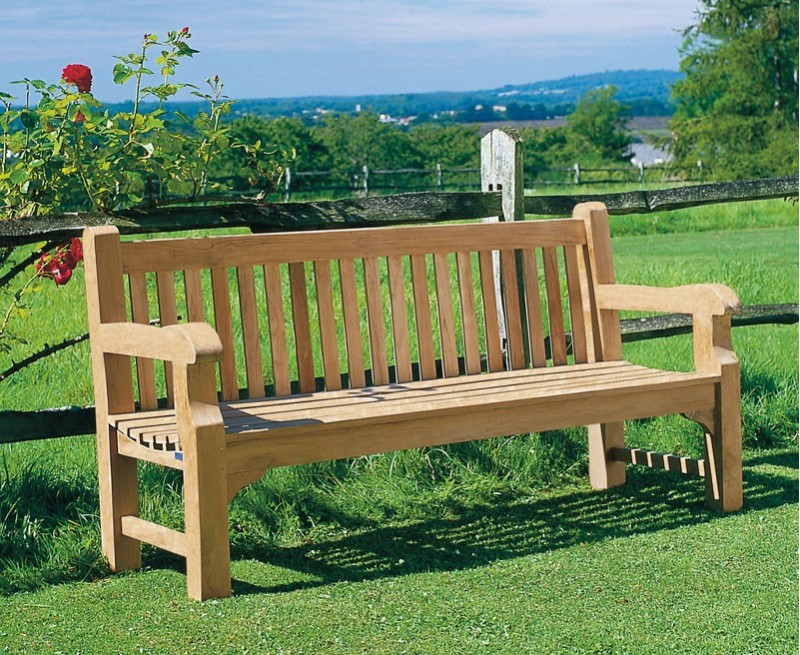 Balmoral 6ft Traditional Chunky Garden Bench, Teak Park ...