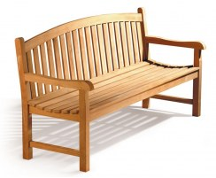 Clivedon Teak Wood Garden Bench, Traditional Outdoor Bench – 1.5m
