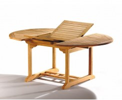 Brompton Teak Oval Extendable Outdoor Table – 1.2 - 1.8m