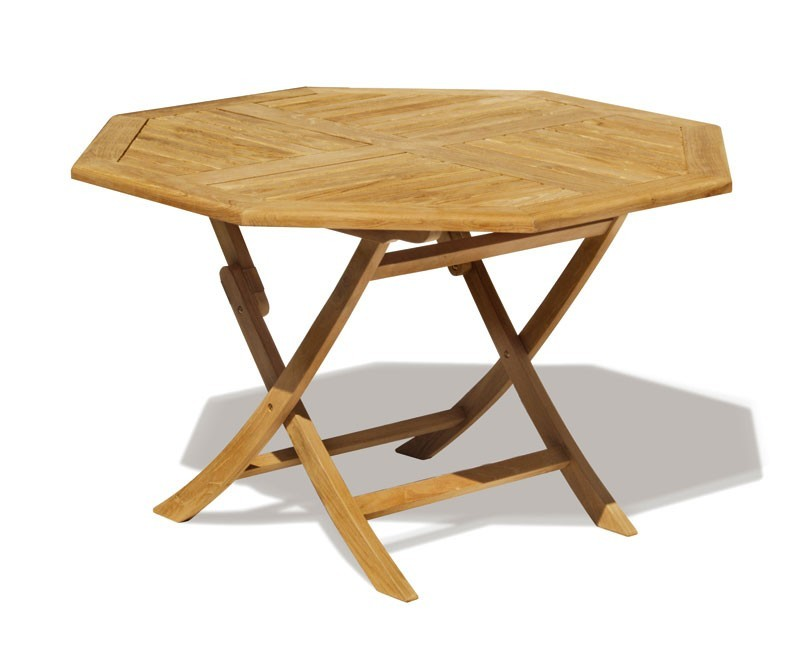 Suffolk 5ft Folding Octagonal Garden Table – 1.5m