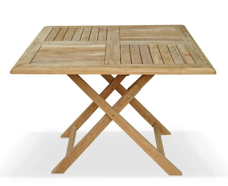 teak garden dining set with folding square table 4. Black Bedroom Furniture Sets. Home Design Ideas