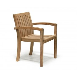 Suffolk Square 1m Table & 4 Monaco Stacking Chairs