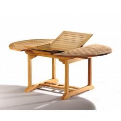 Brompton 1.2 - 1.8m Teak Extendable Table