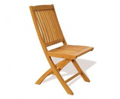 Brompton Extending 1.2 - 1.8m Table & 6 Bali Folding Chairs Teak Set