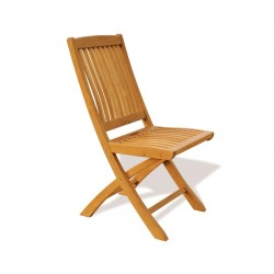 Brompton Extending 1.2 - 1.8m Table & 6 Bali Folding Chairs Teak Set