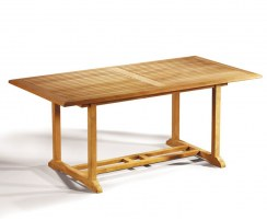 Hilgrove Solid Teak Rectangular Outdoor Dining Table – 0.9 x 1.8m