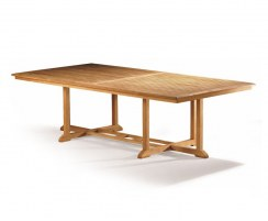 Hilgrove Solid Teak Rectangular Fixed Garden Dining Table – 1.3 x 2.6m