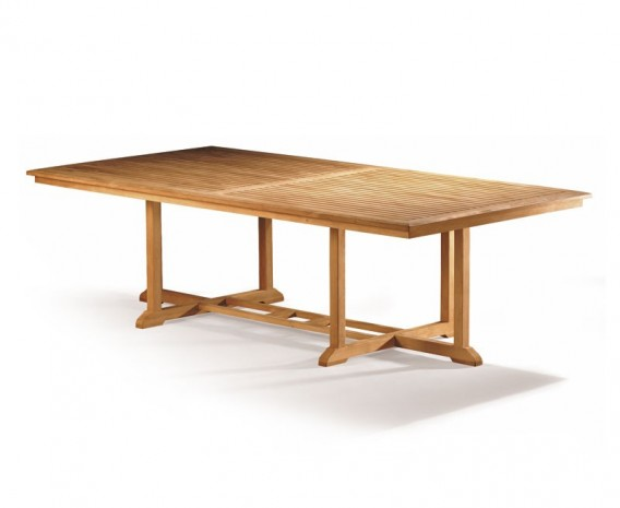 Hilgrove Teak Rectangular Garden Table – 1.3 x 2.6m