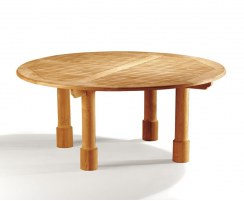 Titan Fixed Teak Round Table – 180cm