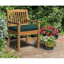 Hilgrove Teak Garden Armchair with cushion