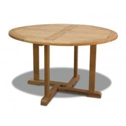 Canfield Teak Circular Wooden Table – 1.3m