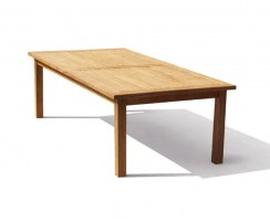 Balmoral Teak Rectangular Garden Patio Dining Table – 1.1 x 2.5m