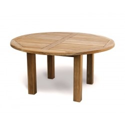 Titan Teak 6 Seater Round Garden Table 1.5m
