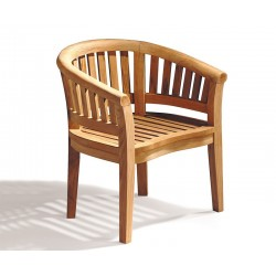 Contemporary Armchair, Teak Banana Chair