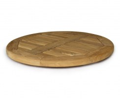 Large Teak Tabletop Lazy Susan Turntable – 0.6m