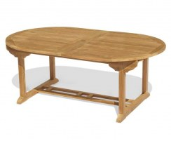 double leaf extendable outdoor table