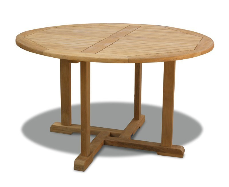 Canfield Round 13m Teak Table St Tropez Rattan Stacking Chairs