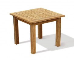 Balmoral Teak Fixed Square Garden Patio Dining Table – 0.9m