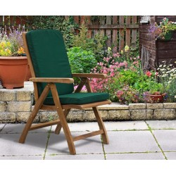 Bali Teak Outdoor Reclining Chair with cushion