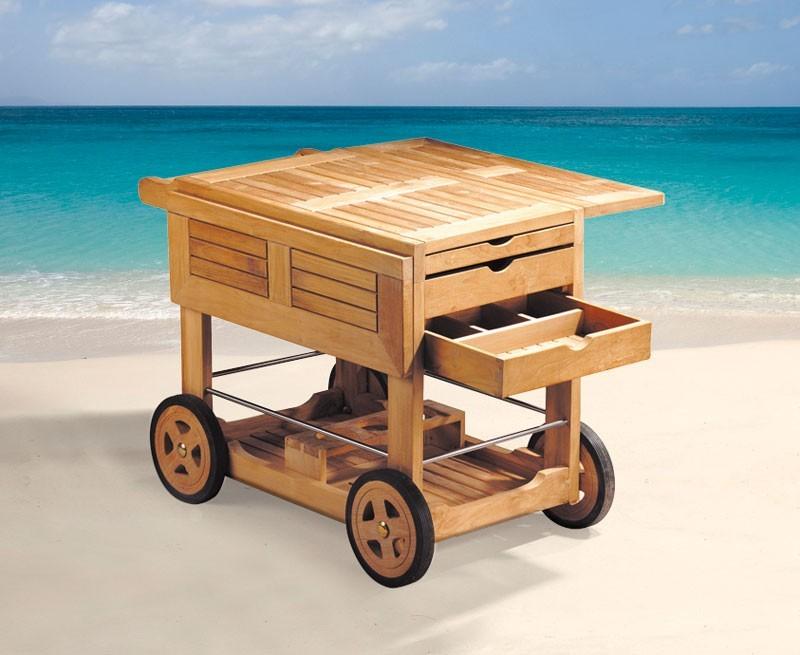 Drinks Trolley Teak Wood