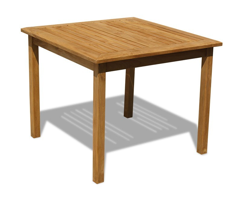 Sandringham Teak Square Patio Table – 0.9m