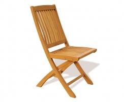 Gateleg Table and 6 Folding Chairs Set