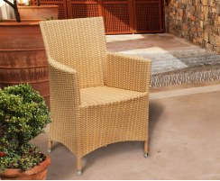 Riviera Rattan Dining Set with Rectangular 2.2m Table & 8 Armchairs