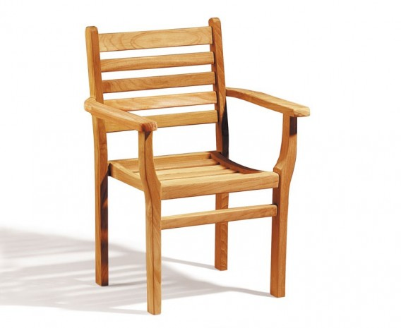 Yale Teak Outdoor Stacking Chair, Stackable Chair