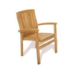Bali Teak Stacking Garden Chair