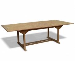 Dorchester Extending 1.8 - 2.4m Table & 8 Bali Garden Recliner Chairs