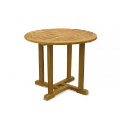 Canfield Teak Round Outdoor Table – 0.9m