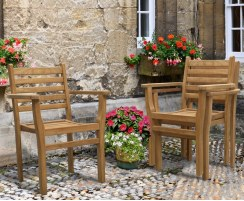 Brompton Extending 1.8 - 2.4m Table & 8 Yale Stacking Armchairs