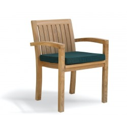 Monaco Outdoor Stacking Chair with cushion