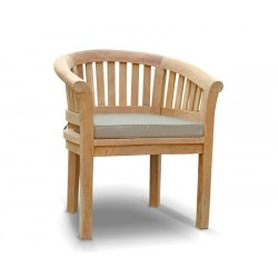 Contemporary Teak Garden Armchair with cushion