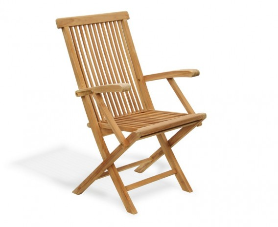 Ashdown Folding Garden Armchair, Teak wood