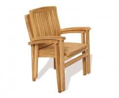 Bali Teak Garden Stackable Chairs