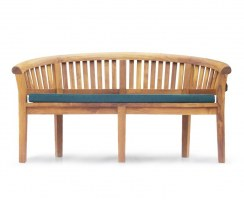 Contemporary Teak Peanut Bench with cushion