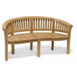Contemporary Teak Banana Bench