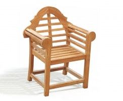 Children's Teak Outdoor Chair, Lutyens-Style
