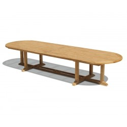 Hilgrove Oval Teak Garden Table, 4m