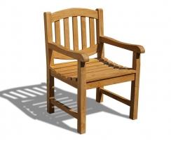 Ascot Teak Oval Garden Armchair