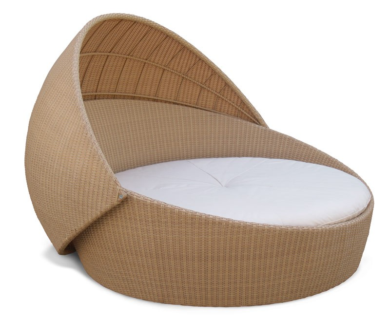 Rattan Daybed Canopy : Oyster rattan daybed with canopy round wicker