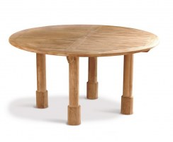 Titan Fixed Teak Round Table – 150cm