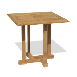 Canfield Small Teak Square Garden Table – 0.8m
