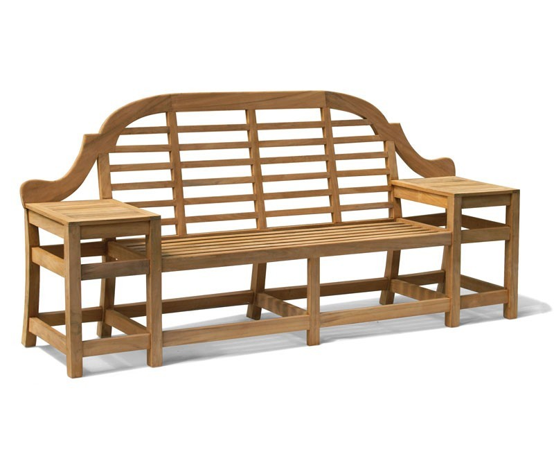 Cheltenham Teak Decorative Outdoor Bench – 2.27m