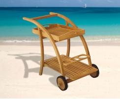 Rimini Folding Drinks Trolley, Teak Wood